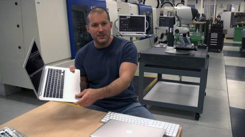 Jonathan Ive, Senior VP of Design at Apple inside the Apple Design Studio
