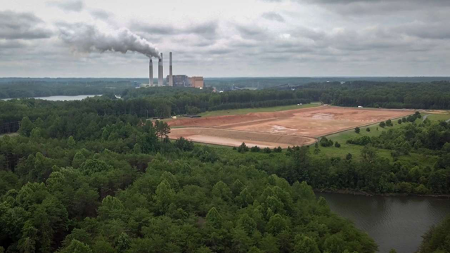 Some people living near coal-fired power plants such as this one in Belews Creek, N.C., have been relying on bottled water for over two years since high levels of certain chemicals were found in their well water. Photo: Jim Tuttle / News21