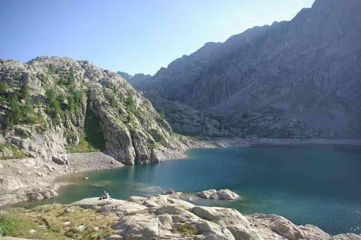 Le lac Vert vu du refuge de Valmasque