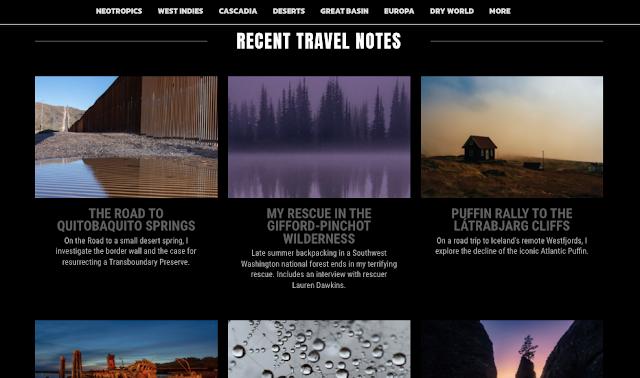 Um dos mais antigos blogs de viajem da internet - Notes from the Road