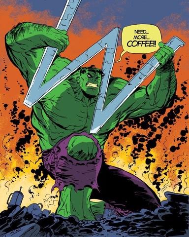 Comic Twart Hulk Out