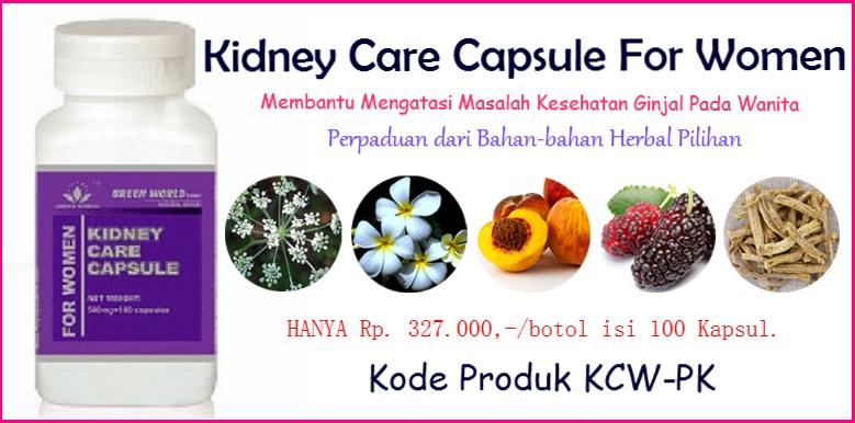 Harga Kidney Care Capsule For Women dan Khasiatnya