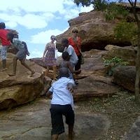 Tish, Britt and kids at the Bakgatla museum in Mochudi