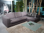 salotto Ananta Saba con divano con penisola, tessuto sfoderabile