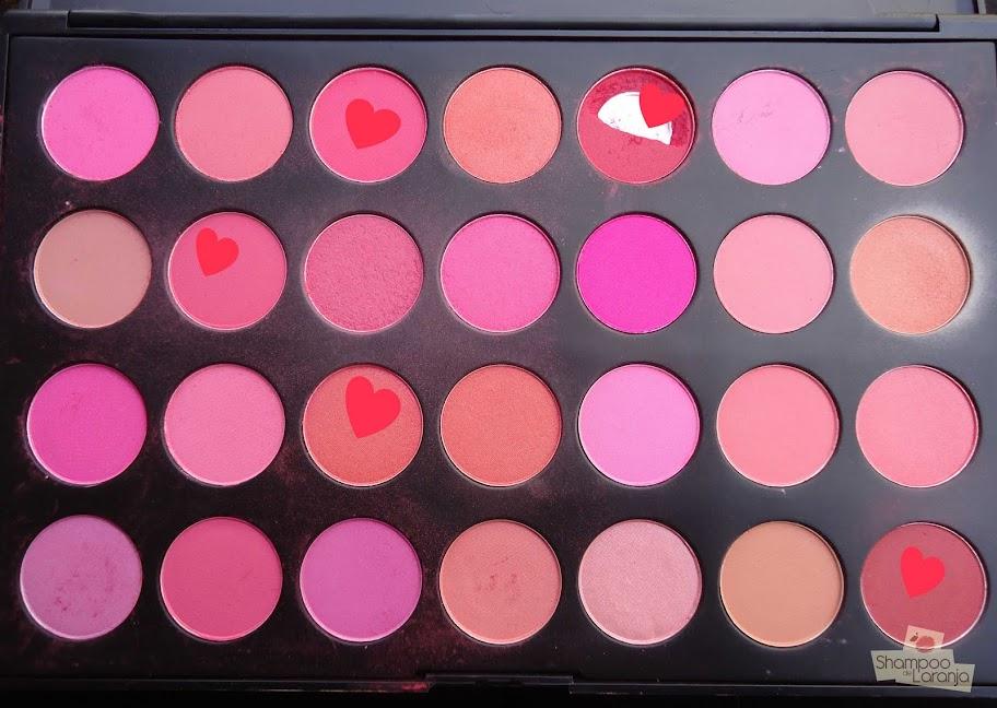 Paleta de 28 cores de blush: prática e econômica!