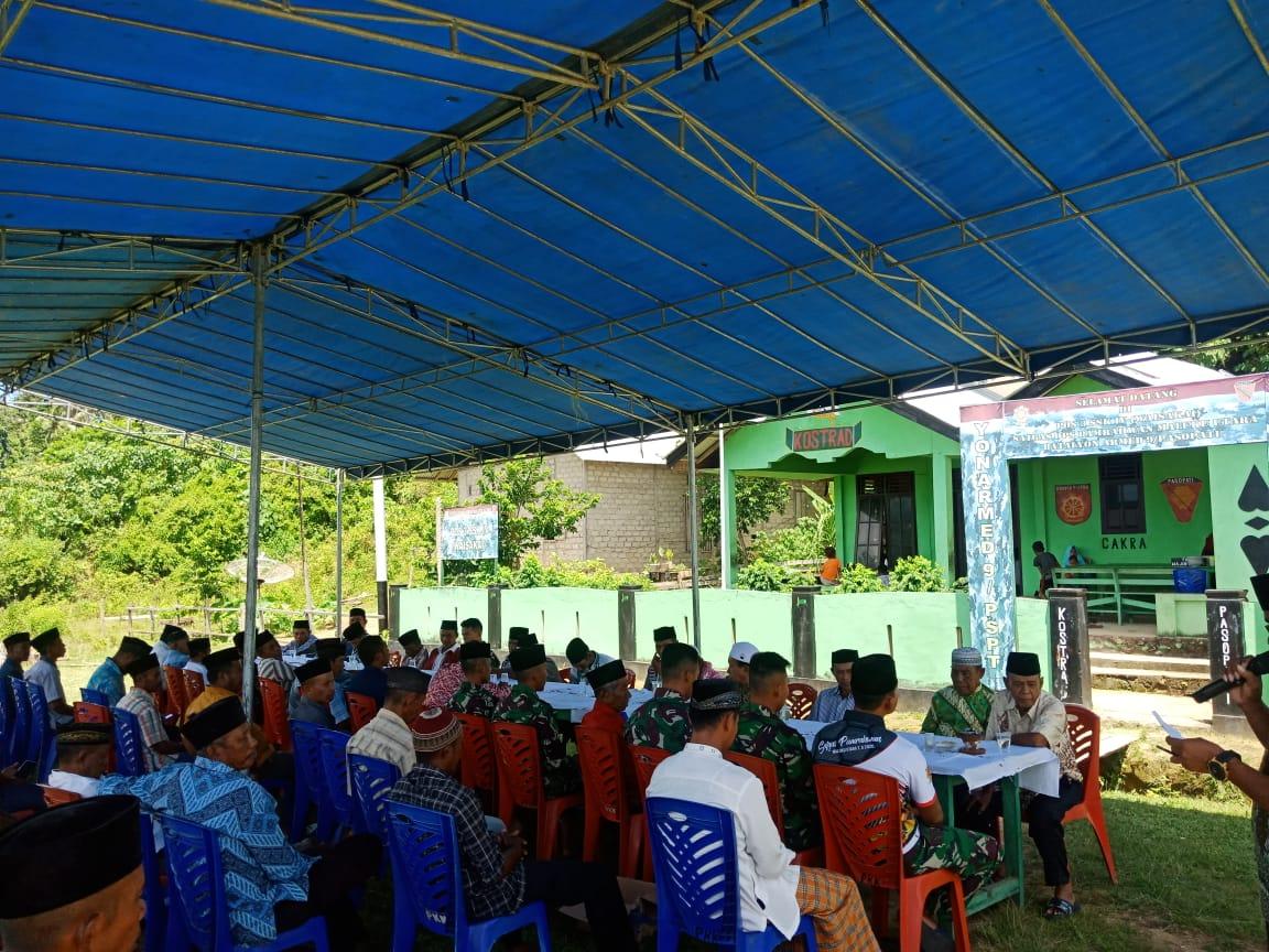 HUT TNI ke 75, Satgas Yonarmed 9 Kostrad Menggelar Syukuran dan Doa Bersama