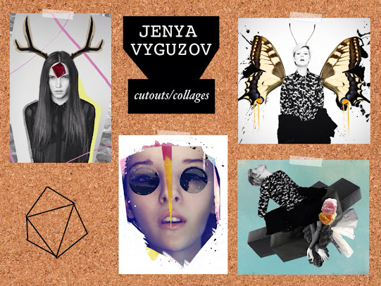 Jenya Vyguzov cutouts mixed media