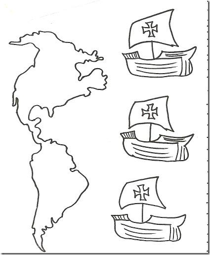 Colorear Cristobal Colon Y Las Carabelas Mas Dibujos