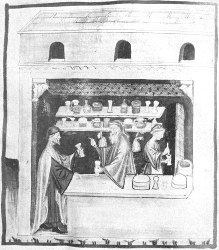 Image In Manuscript Of Tacuinum Sanitatis, Alchemical Apparatus