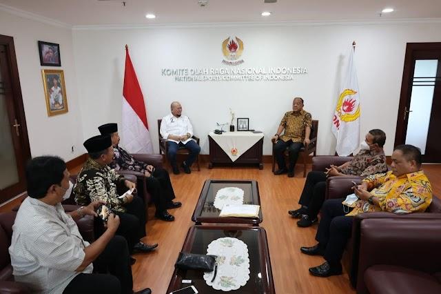 Selesaikan Polemik, Ketua DPD RI Dampingi Pengurus PSHT Temui Ketua Umum KONI
