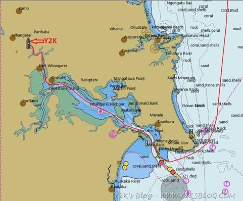 Il nostro percorso sull'Hatea River fino a Whangarei