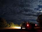 Truck parked at Cedar Mountain overlook