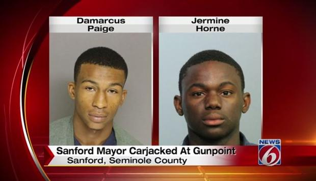 Carjacked at gunpoint: mayor of city where Trayvon Martin was killed