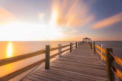 sunrise over the pier Florida Keys