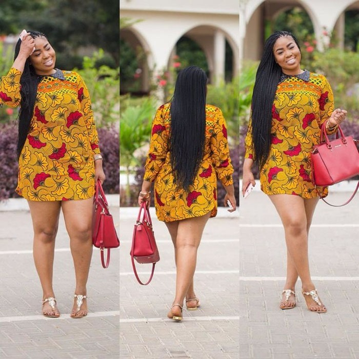 50 Of The Latest Short Ankara Gown Styles For Ladies 2017