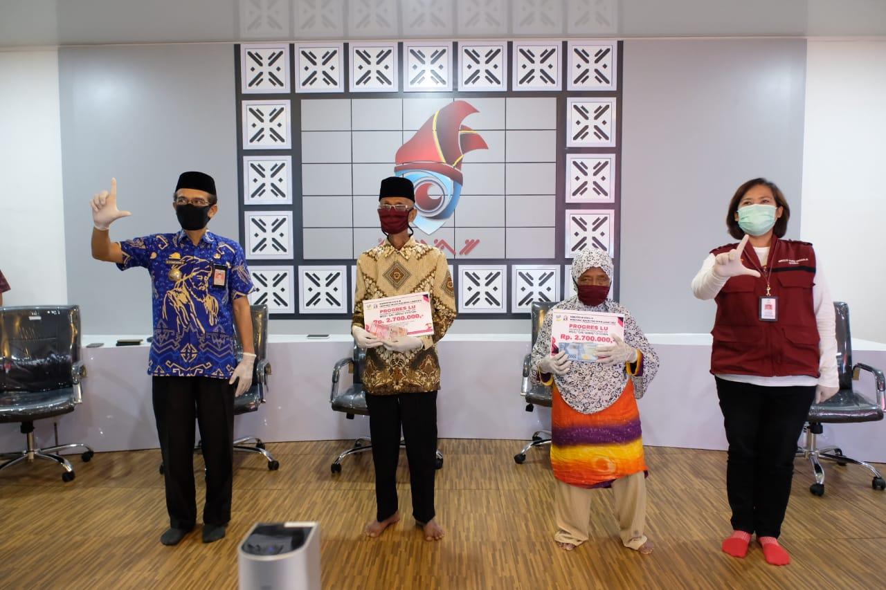 Ribuan Lansia di Gowa Terima Bantuan dari  Kemensos RI
