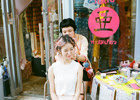 東京・渋谷のセレクトショップ Aquvii TOKYO (アクビ・トーキョー) で若手ヘアメイクアーティスト・山本りさ子によるヘアメイクイベントが開催