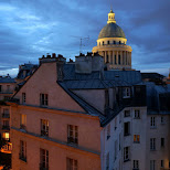 nightview of the pantheon from my balcony in Paris, Paris - Ile-de-France, France