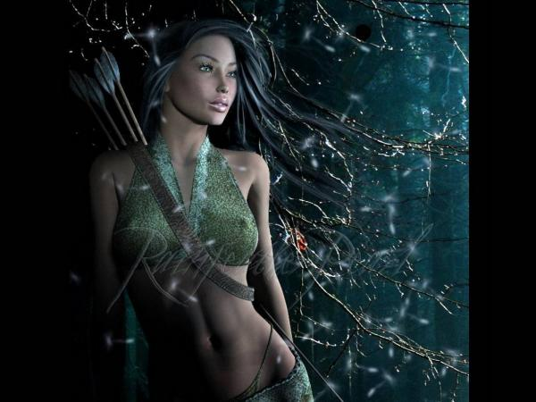 Girl Archer Of The Night Forest, Warriors 2