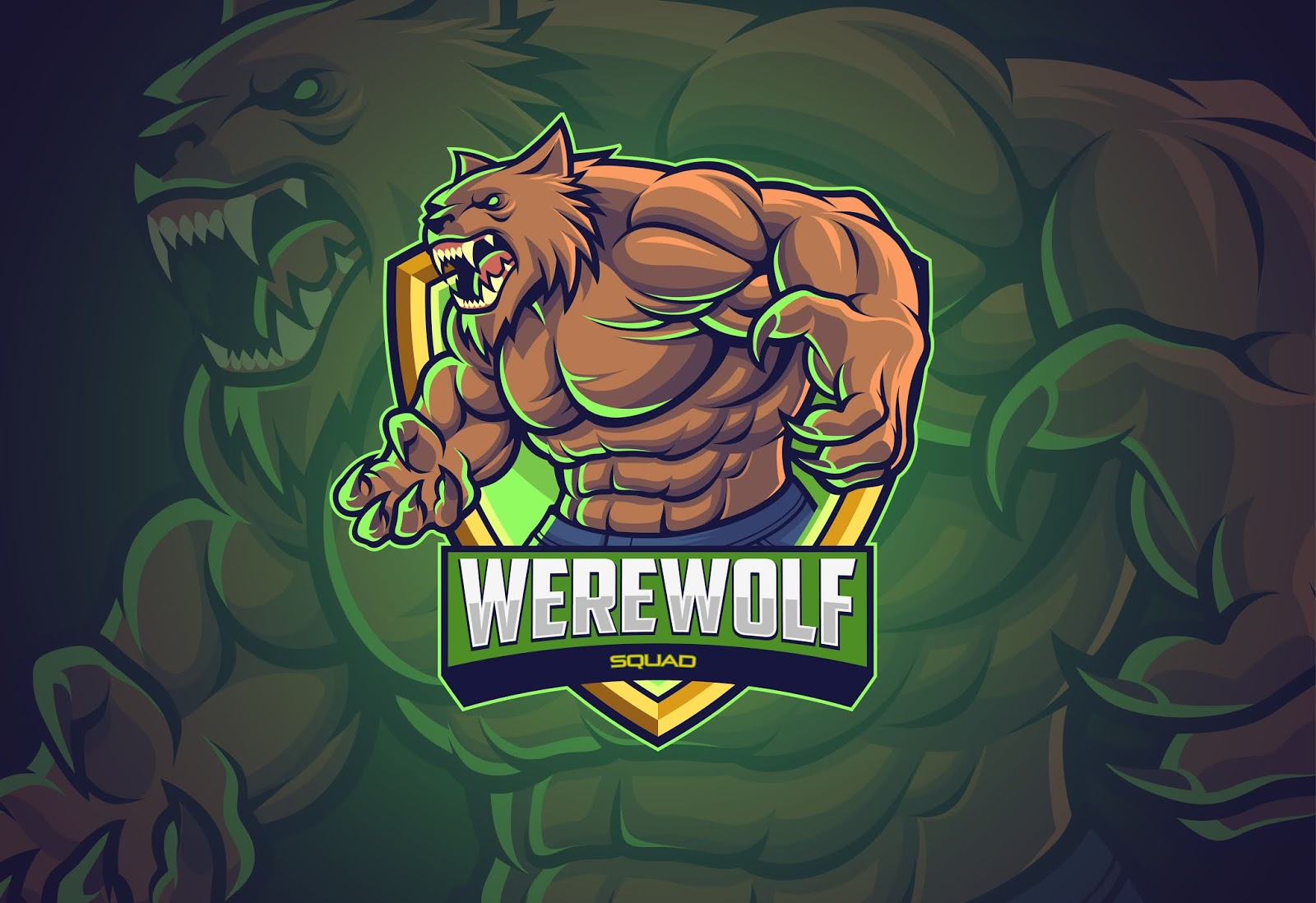 Werewolf Esports Logo Design Your Team Free Download Vector CDR, AI, EPS and PNG Formats