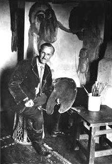 EL Blumenschein in Taos Studio