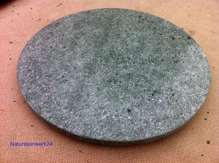 Runde natursteinplatte tischplatte hellgr n verde andeer for Tischplatte marmor rund