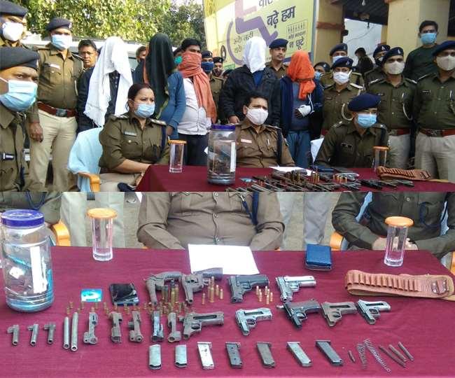 BIHAR: IPS पर बम से हमला,कुख्यात अपराधी दिव्यांशु झा गिरफ्तार, भारी मात्र में हथियार बरामद