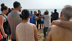 Sifu Garry Mckenzie giving training instructions at  Cheung Sha beach on Lan Tau Island.