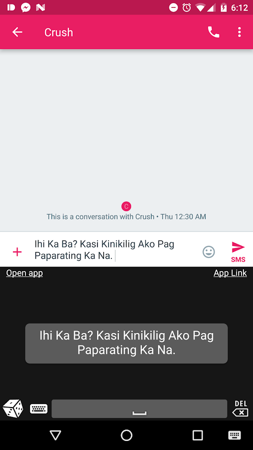 Tagalog Pickuplines Keyboard- screenshot