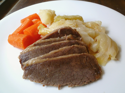 Cookistry corned beef what makes it pink without sodium nitrite corned beef looks more like pot roast ccuart Gallery