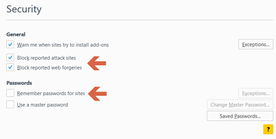 Tips Mengamankan Web Browser Mozilla Firefox