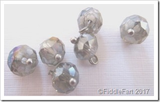 facetted glass beads