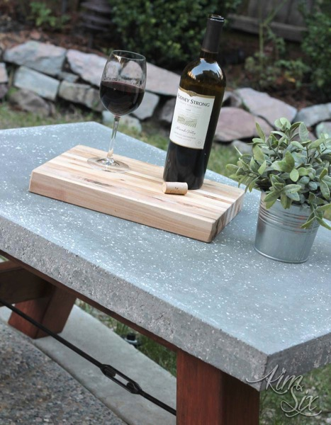 Exterior Concrete and Wood Industrial Coffee Table