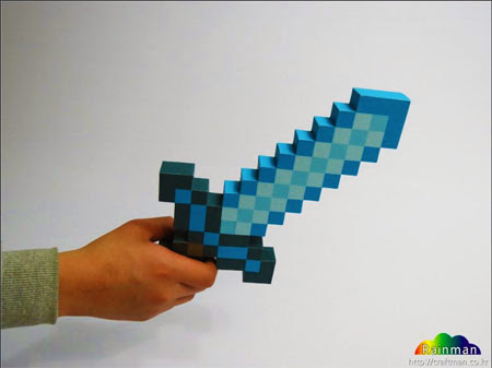 Minecraft Sword and Pickaxe Papercraft