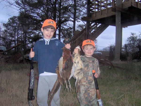 Feb 2008 - The boys' birds @ Anderson Creek Hunting Preserve
