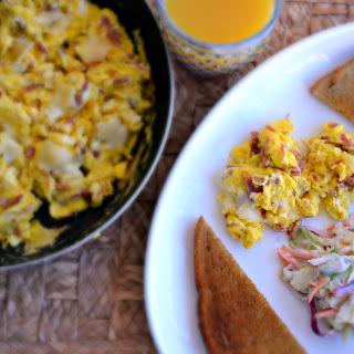 Leftover Corn Beef Egg Scramble Recipe
