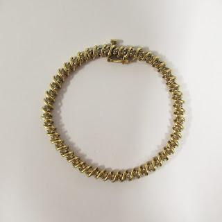 10K Gold and Diamond Chain Bracelet
