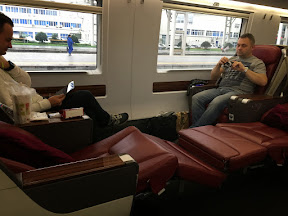 We like the Bullet Train in China very much.