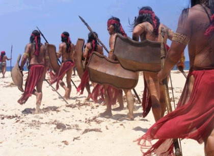 Scene from the Amaya TV series