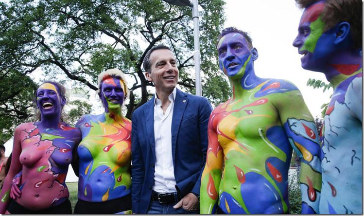 Kern auf Regenbogenparade 2016
