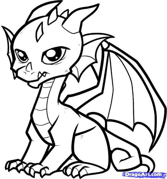 Coloring Pages Glamorous Dragon Coloring Page Cute Dragon Coloring On Cute  Coloring Pages