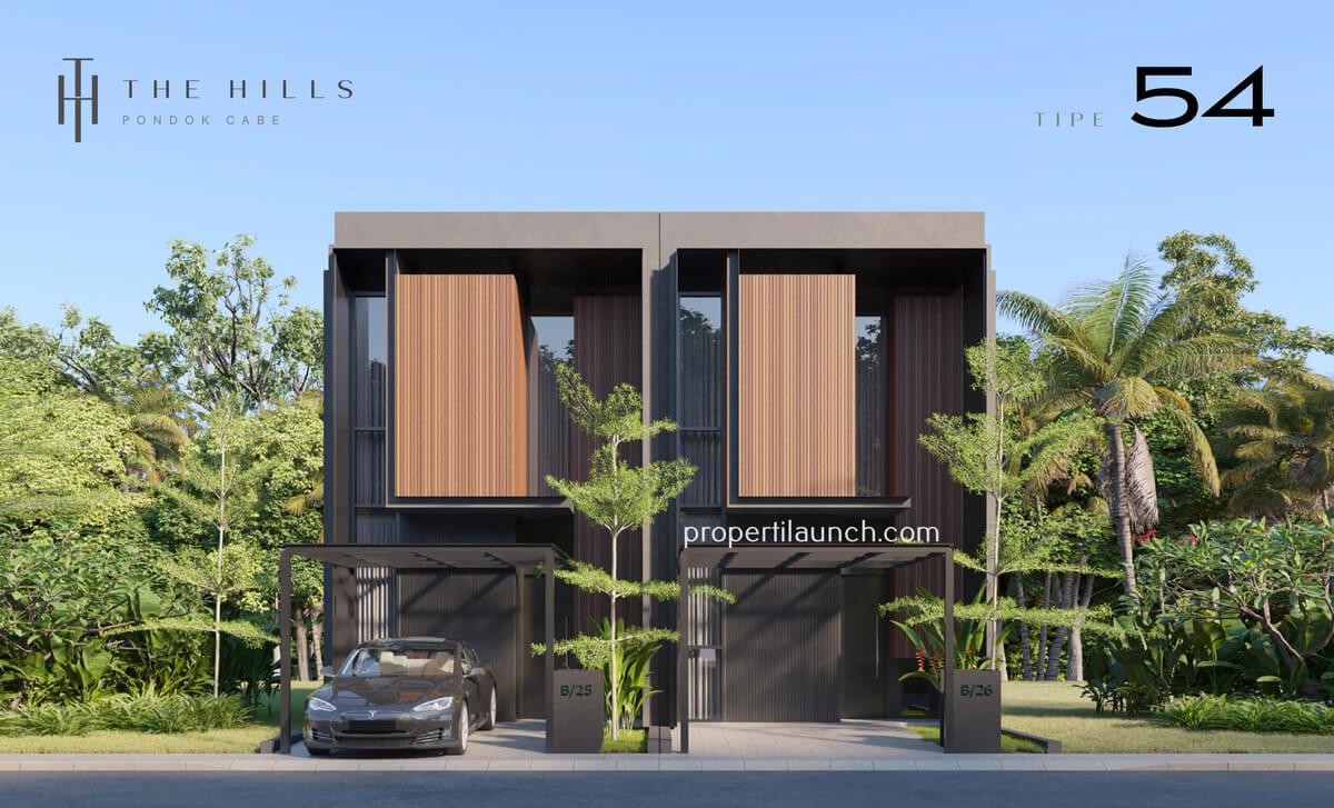 Rumah The Hills Pondok Cabe Tipe 54