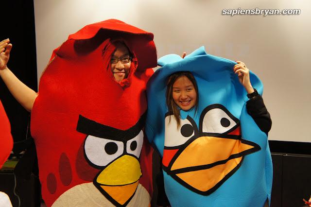 Angry Birds Halloween costumes.