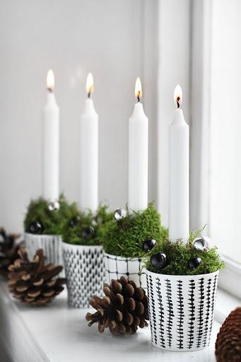 enfeite de natal velas