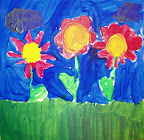 Flower Painting by Abby