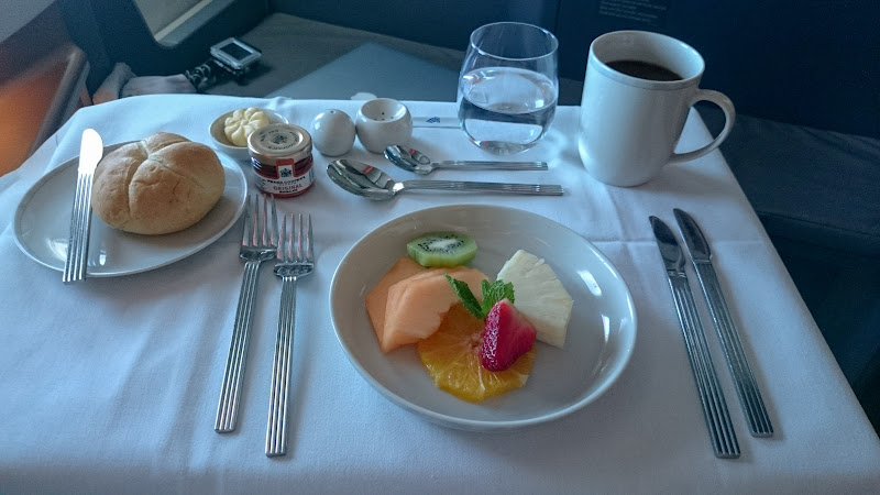A proper table setting for breakfast. I love the inidual pots of marmalade. The filter coffee was actually pretty good and the fruit was very fresh and ... & FlyerTalk Forums - View Single Post - The Singapore Four - SQ new J ...