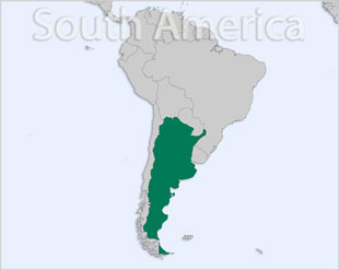 Argentina location map
