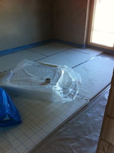 Verlegung Dämmplatten Fußbodenheizung