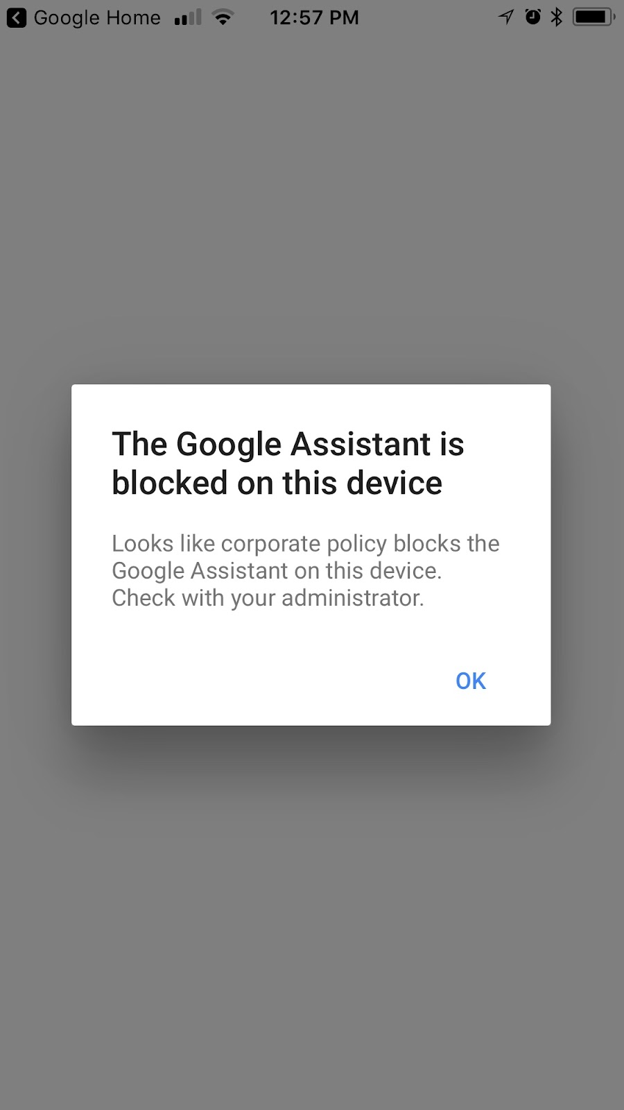 Google Assistant is blocked on device? - Google Nest Help