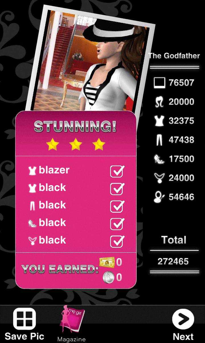 Style Me Girl Level 45 - The Godfather - Jane - Stunning! Three Stars